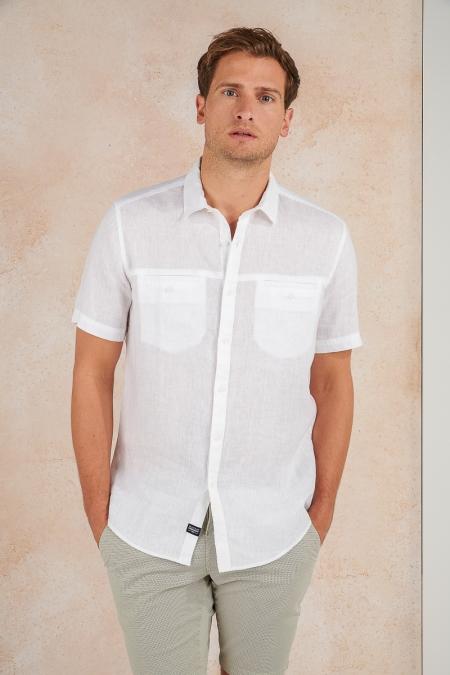 Chemise regular blanc Leon