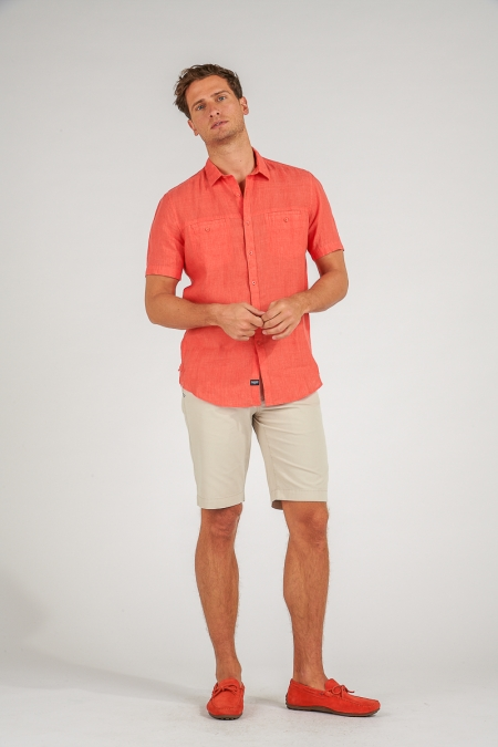 Chemise regular terracotta Leon