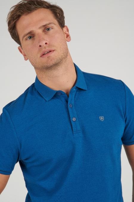 Polo bleu Tino