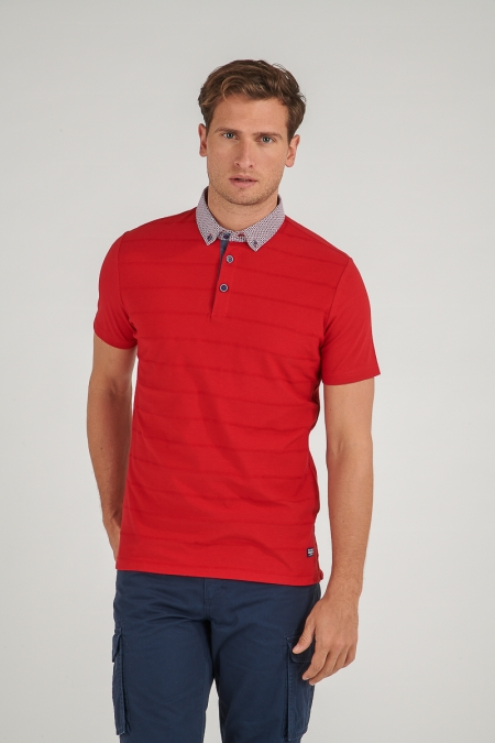 Polo col carreaux rouge Angelo