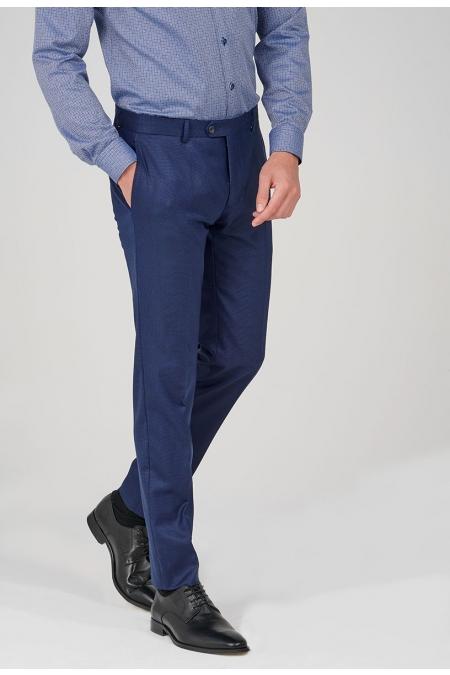 Pantalon de costume bleu Roni