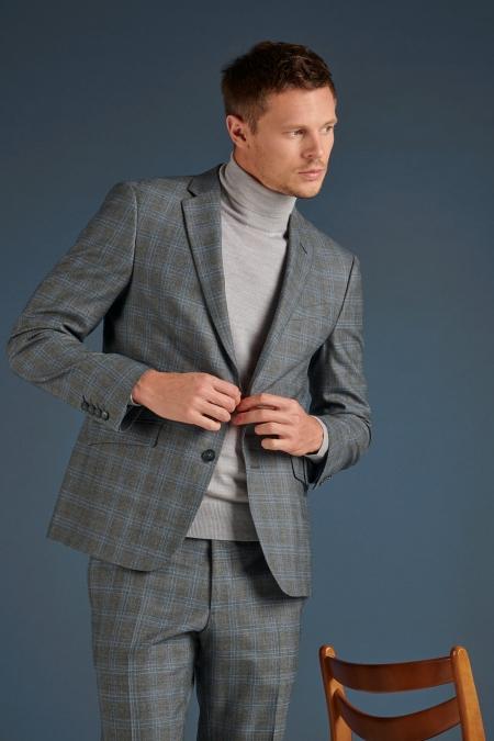 Veste de costume grise ROMIN