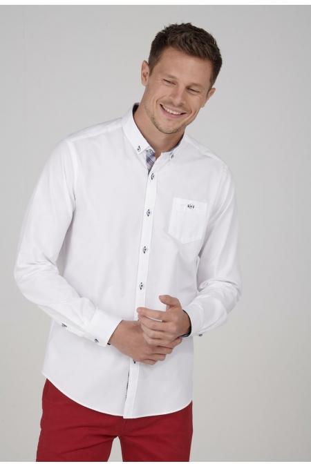 Chemise blanche top regular Nolan