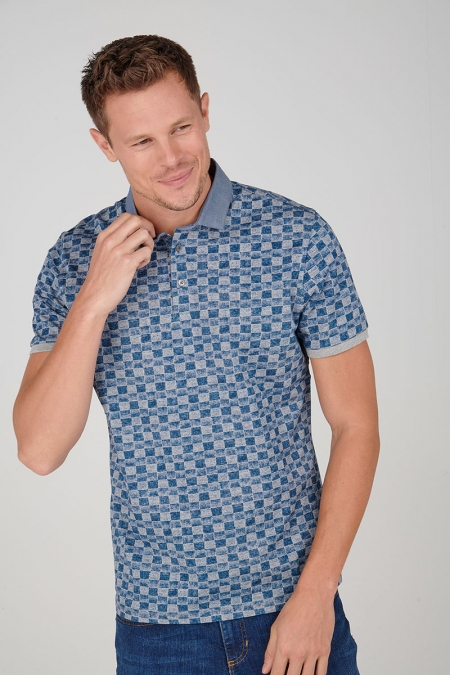 Polo jean col chemise Rosco