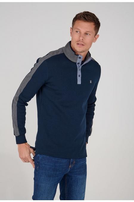 Polo marine col tricot Robinson