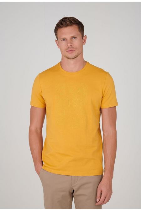 T-shirt jaune col rond Peyo