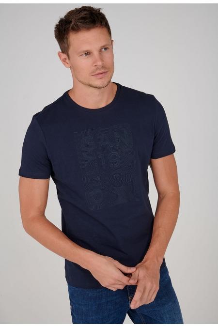 T-shirt imprime col rond Peyo