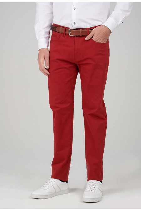Pantalon chino rouge New angel