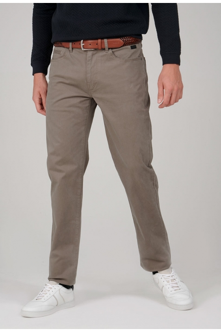 Pantalon chino taupe New angel