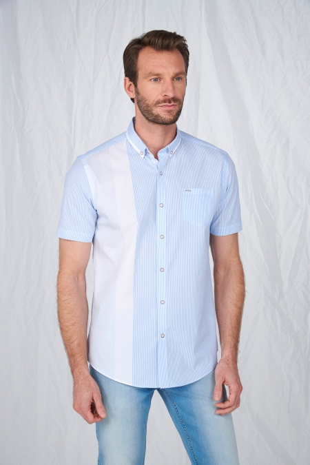 Chemise rayée manches courtes