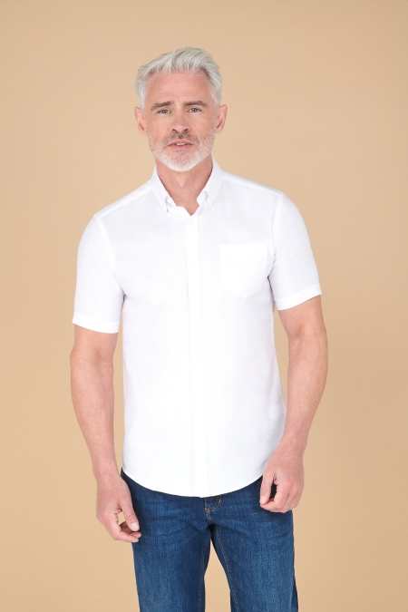 Chemise oxford regular manches courtes