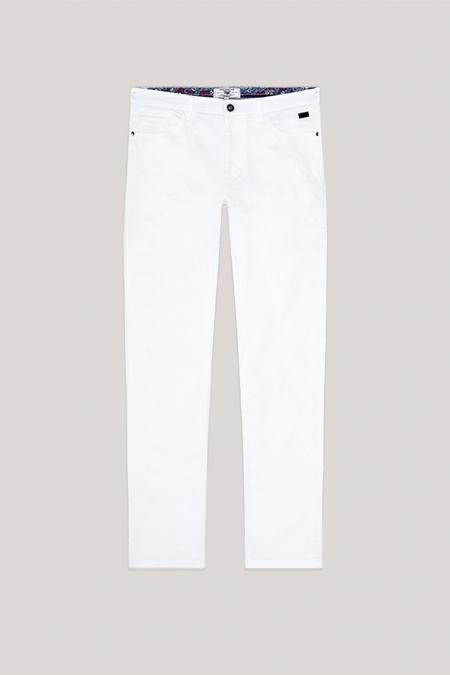 Pantalon 5 poches aspect denim