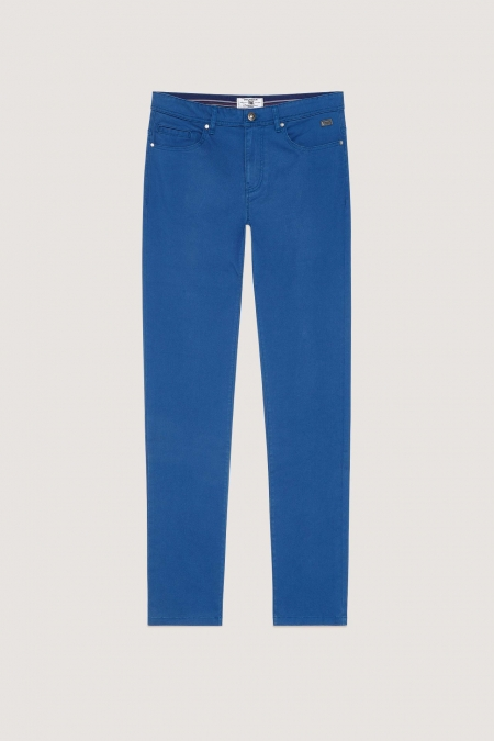 Pantalon 5 poches aspect denim