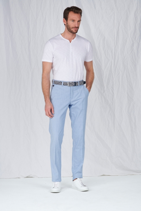 Pantalon chino tissu oxford