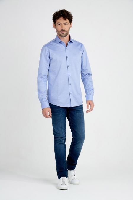 Chemise coupe droite en coton