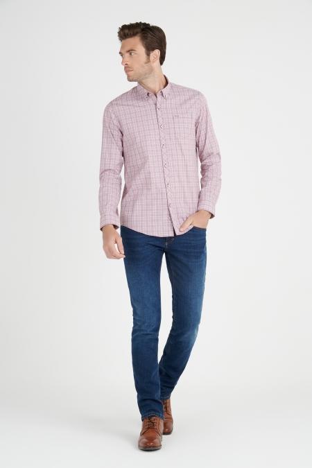 Chemise à carreaux poche poitrine