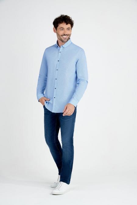 Chemise coupe droite col boutonné