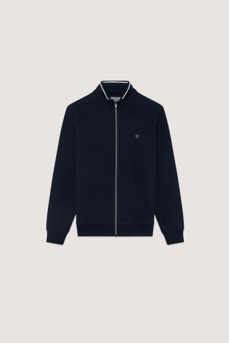 Sweat zippé effet jacket