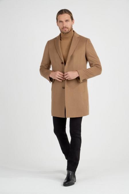 Manteau droit col tailleur